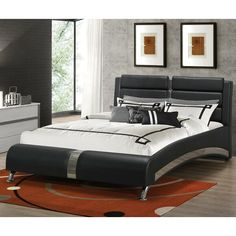 Looking for Coaster Contemporary Queen Bed Black Finish ? Check out our picks for the Coaster Contemporary Queen Bed Black Finish from the popular stores - all in one. King Platform Bed, Upholstered Platform Bed, Upholstered Beds, Black Headboard, Black Bedding, Floating Headboard, Panel Headboard, Coaster Furniture, Bedroom Furniture