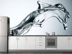 Abstract splash of water Wall Mural