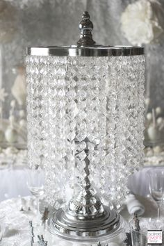 Table top chandelier display stand 30 12 in wedding ideas use a tabletop chandelier from koyal wholesale as a centerpiece featured in winter white bridal shower aloadofball Images