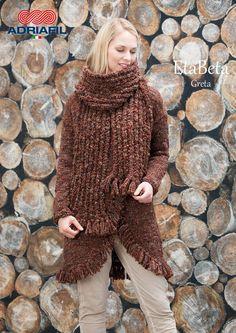 """#Adriafil rende caldo il tuo inverno... dalla collezione #DrittoRovescio 63 #cappotto """"Greta"""", filato #EtaBeta: http://bit.ly/AdriafiETABETA   By Strickfrosch"""