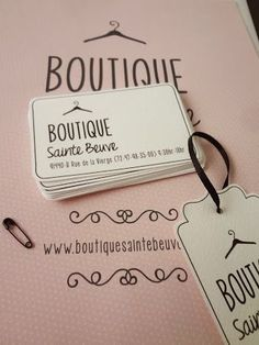 Logo, business card and tag for boutique. - like the white space and personality…