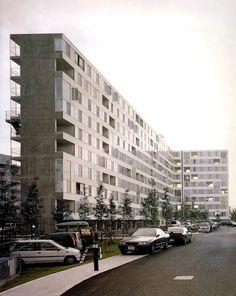 Edificio de Apartamentos Gifu Kitagata, Motosu, Japón(1994-1998) / Kazuyo Sejima   OOKI(NA) MOMO LASAI