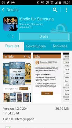 Kindle bringt gratis Bücher für Samsung Geräte