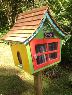 Dr. Seuss style Little Free Library in College Park, GA.