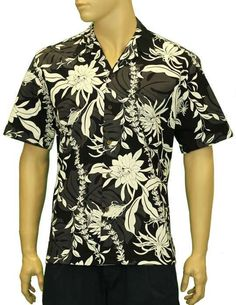 Hawaiian Leis Men's Shirt - Makapu Design