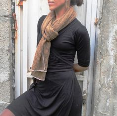 Handmade Knitted Lace Scarf Tan Brown Scarf by BestOffersBoutique Lace Scarf, Chiffon Scarf, Cotton Scarf, Wool Scarf, Scarf Sale, Summer Scarves, Lace Knitting, Womens Scarves