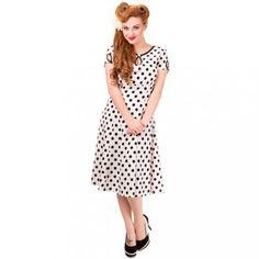 Banned 50s Vintage Dress - Wonderwall White