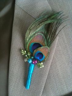 Peacock BoutonniereUntrimmeddouble eye Can be by WaterMeNot, $12.00