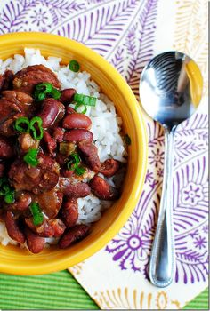 cajun red beans and rice with sausage.i've already been making this for a while, but wanted to make sure it got pinned on pinterest