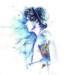 Harry styles watercolor painting