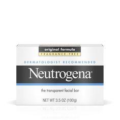 Neutrogena Facial Cleansing Bar, Fragrence Free, 3.5 Oz, Multicolor