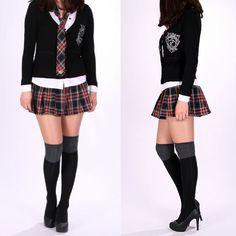 School Girl Mini Skirt   ... & tartán sexy comprobar a cuadros de colegiala plisado falda mini
