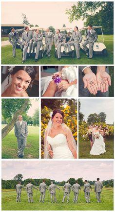 Golf course wedding photos, Tamaron Country Club, Toledo, Ohio - Memories Captured by Brenda