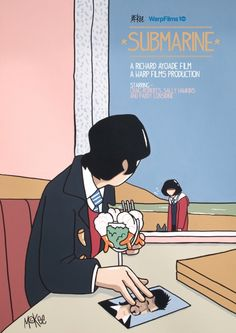 Warp Films' anniversary inspires new poster art for some of their movies by Pete McKee. Movie Poster Art, New Poster, Film Posters, Submarine Movie, Submarine 2010, Pete Mckee, Poster Design Inspiration, Design Posters, Alternative Movie Posters