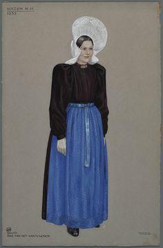 Huizen N.H. - 1935. Bruid, dag van het aantekenen.