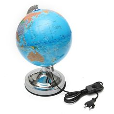 KiWarm New Electronic Illuminated Floating Geography Globe World Map For  Birthday Business Gift Home Office Desk