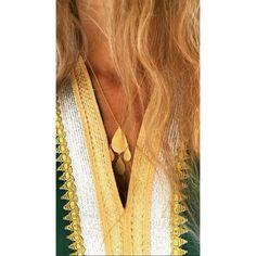 Trevi long pendant silver gold plated #antoniakarra #pendant #Necklace