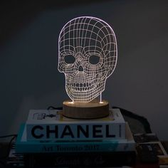 Don't let your eyes fool you! Our new illusion lights are made from flat laser etched clear acrylic which creates a effect when turned on. My Cinema Lightbox, Art Toronto, White Home Decor, Skull Design, Neon Lighting, Dorm Decorations, Event Decor, Illusions, Living Spaces