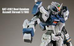 MG 1/100 Duel Gundam Assaultshroud Custom Build - Gundam Kits Collection News and Reviews