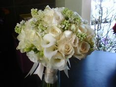 white and ivory bridal bouquet.  www.helenolivia.com