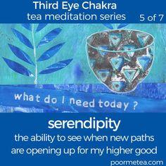 7 Days 7 Chakras Third Eye Chakra Tea Meditation, Serendipity