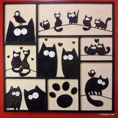 Tavoletta gatti -. The Lovecats - 28x28 - Le INsolite Cose 2015 (6)