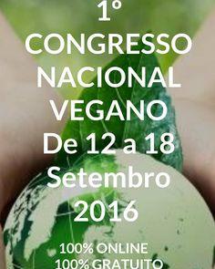 Mais um congresso online e gratuito sobre alimentação vegetariana desta vez do Brasil. Para assistir basta aceder pelo link que recebem no email. Atenção que é necessário assistir à hora agendada. As palestras não estarão disponível depois (a não ser no pacote pago). Acedam: http://ift.tt/2cH2Qbq