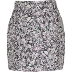 PROENZA SCHOULER Tangle Black and White Wool silk blend skirt ($405) ❤ liked on Polyvore featuring skirts, mini skirts, gonne, saia, black and white mini skirt, high rise skirts, print mini skirt, short wool skirt and short mini skirts