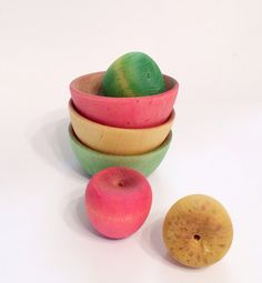 Red Yellow Green Apple Sorting Waldorf by LittleOwlBigSky on Etsy, $13.00
