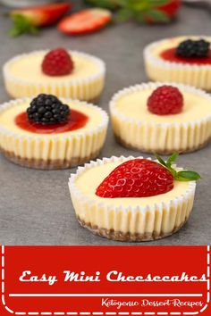 Inspired by Cheesecake Factory, these mini cheesecakes have super creamy texture and taste. They are easy to make and great for parties and gatherings. Rezepte Inspired by Cheesecake Factory, these mini cheesecakes have super creamy texture and tast Mini Desserts, Quick Easy Desserts, Easy Cake Recipes, Delicious Desserts, Healthy Desserts, Mini Dessert Recipes, Healthy Recipes, Elegant Desserts, Mini Dessert Cups