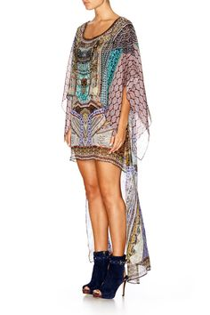 CAMILLA YENI SARAY LAYERED SHORT FRONT KAFTAN 3