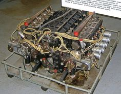 The BRM H16 Formula One engine - H engine - in its final, 64 valve incarnation. Wikipedia, the free encyclopedia