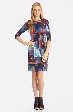 Karen+Kane+'Painted+Canvas'+Body-Con+Dress+available+at+#Nordstrom