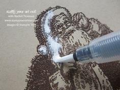 Painting with pigment ink technique, Santa's List stamp set from Stampin' Up! - Stamp Your Art Out! www.stampyourarto...