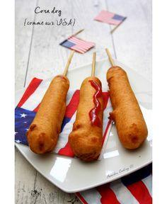 Direction les États-Unis avec cette recette de corn dog (ou beignets de saucisse) grand classique des fêtes foraine américaines, un peu comme la barbe à papa chez nous ! Même principe, ça se savoure sur un bâtonnet, donc très pratique à manger ! Certes...