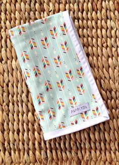 Made to Order Newborn swaddle / receiving blanket Mint by Pappiyon