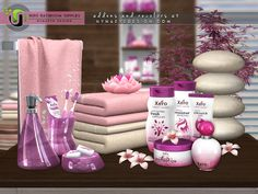 Contemporary bathroom supplies that boast a sleek, modern look and will bring a fresh style to your sim's decor. Found in TSR Category 'Sims 4 Decorative Sets' The Sims 4 Packs, Sims 4 Cc Kids Clothing, Sims 4 Clutter, Sims 4 Cc Shoes, Casas The Sims 4, How To Fold Towels, Play Sims, Sims 4 Cc Furniture, Sims 4 Build