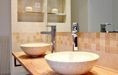 salle de bain ouverte sur chambre vasque a poser agence avous