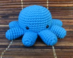 Blue Crochet Octopus by Belru on Etsy, $22.00