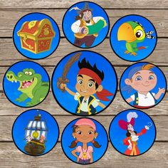 Jake And The Neverland Pirates Cupcake toppers by ClipArt911