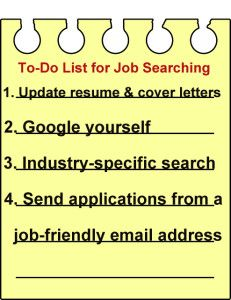 Easy checklist for online job searching #careers #PersonalBranding