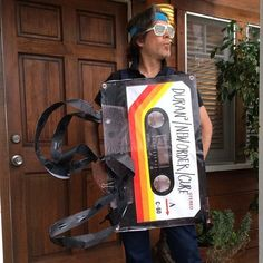 …and a matching cassette. | 28 Insanely Clever Halloween Costumes You Can Make Yourself