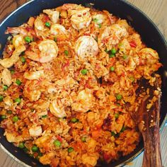 Shrimp Fried Rice is one of my go-to meals and my family can't get enough of it. Fried Rice is the best way to use leftover rice and it always dissapears fast! Rice Recipes, Shrimp Recipes, Asian Recipes, Great Recipes, Dinner Recipes, Cooking Recipes, Favorite Recipes, Healthy Recipes, Shrimp Fried Rice Recipe Video