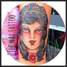Traditional tattoo by sara cozzi for the wax studio