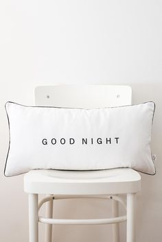 Goodnight lettering cushion cover,word cushion,word pillow, wedding gift,typography cushion,typography pillow pillowcase,monochrome cushion Cushion Pads, Cushion Covers, Typography Cushions, Cricut Craft Room, Printed Cushions, Teen Bedroom, Lettering Design, Good Night, Linens
