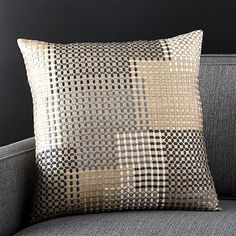 Aoki Pillow with Feather-Down Insert | Crate and Barrel
