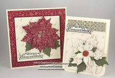 CeeCee's Creations: i make cards: embossed poinsettias with Tim Holtz Alterations