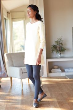 Pure Jill boat-neck tunic (in sunlight heather).