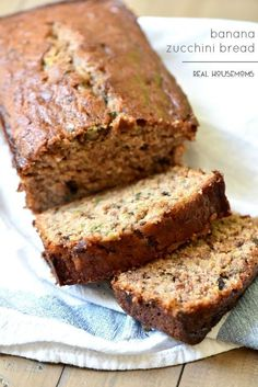 Banana Zucchini Bread is the best breakfast and my favorite way to use my zucchini!