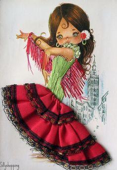 postales de trajes tipico y bordadas